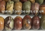 CPJ678 15.5 inches 5*8mm rondelle picasso jasper beads wholesale