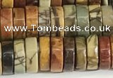 CPJ682 15.5 inches 3*8mm heishi picasso jasper beads wholesale