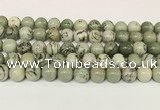 CPJ703 15.5 inches 10mm round greeting pine jasper beads