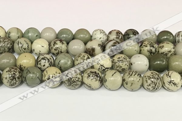 CPJ704 15.5 inches 12mm round greeting pine jasper beads