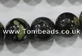 CPM06 15.5 inches 16mm round plum blossom jade beads wholesale