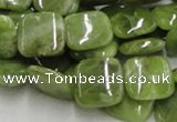 CPO09 15.5 inches 16*16mm square olivine gemstone beads wholesale