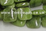 CPO10 15.5 inches 18*18mm square olivine gemstone beads wholesale