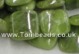 CPO11 15.5 inches 20*20mm square olivine gemstone beads wholesale