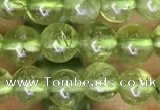 CPO130 15.5 inches 5mm round natural peridot beads wholesale