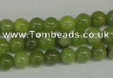 CPO20 15.5 inches 4mm round olivine gemstone beads wholesale