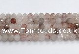 CPQ321 15.5 inches 12mm faceted round pink quartz beads