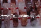CPQ40 15.5 inches 7*15mm rondelle pink quartz beads wholesale