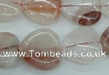 CPQ55 15.5 inches 20*20mm heart natural pink quartz beads