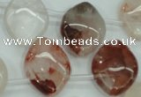 CPQ59 Top-drilled 18*25mm marquise natural pink quartz beads