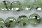 CPR214 15.5 inches 16mm flat round natural prehnite beads wholesale