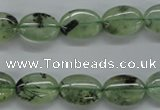 CPR221 15.5 inches 10*14mm oval natural prehnite beads wholesale