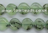 CPR230 15.5 inches 14*14mm heart natural prehnite beads wholesale