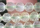CPR375 15.5 inches 5mm faceted nuggets prehnite gemstone beads