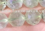 CPR378 15.5 inches 10mm faceted nuggets prehnite gemstone beads