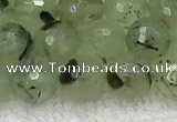 CPR410 15.5 inches 6mm faceted round prehnite gemstone beads