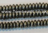 CPY101 15.5 inches 3*6mm rondelle pyrite gemstone beads wholesale