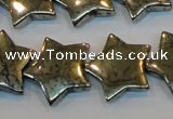 CPY158 15.5 inches 20mm star pyrite gemstone beads wholesale