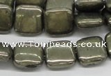 CPY18 16 inches 14*14mm square pyrite gemstone beads wholesale