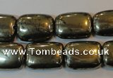 CPY324 15.5 inches 15*20mm rectangle pyrite gemstone beads wholesale