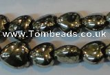 CPY328 15.5 inches 8*8mm heart pyrite gemstone beads wholesale