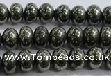 CPY422 15.5 inches 4*6mm rondelle pyrite gemstone beads