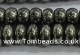 CPY423 15.5 inches 5*8mm rondelle pyrite gemstone beads