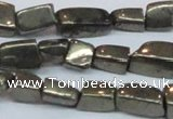 CPY624 15.5 inches 6*8mm - 8*14mm nuggets pyrite gemstone beads