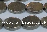CPY644 15.5 inches 13*18mm oval pyrite gemstone beads wholesale