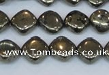 CPY648 15.5 inches 10*10mm diamond pyrite gemstone beads wholesale