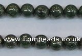 CPY762 15.5 inches 8mm round pyrite gemstone beads wholesale