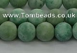 CQJ233 15.5 inches 10mm round matte Qinghai jade beads