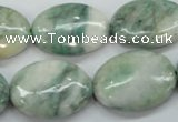 CQJ56 15.5 inches 18*25mm oval Qinghai jade beads wholesale