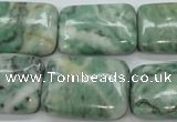 CQJ76 15.5 inches 18*25mm rectangle Qinghai jade beads wholesale