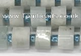 CRB1050 15.5 inches 4*6mm - 5*6mm faceted tyre aquamarine beads