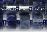 CRB1074 15.5 inches 7*9mm - 8*10mm faceted tyre sodalite beads