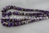 CRB1102 15.5 inches 5*8mm - 9*18mm rondelle dogtooth amethyst beads