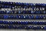 CRB111 15.5 inches 2.5*4mm faceted rondelle sodalite gemstone beads