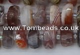 CRB1381 15.5 inches 6*10mm faceted rondelle botswana agate beads