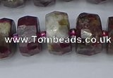 CRB1405 15.5 inches 8*18mm faceted rondelle tourmaline beads