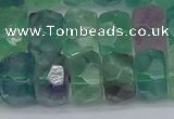 CRB1466 15.5 inches 6*12mm faceted rondelle fluorite beads