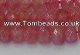 CRB1801 15.5 inches 5*8mm faceted rondelle strawberry quartz beads