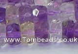 CRB1810 15.5 inches 6*12mm faceted rondelle ametrine beads