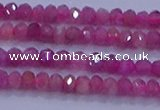 CRB1878 15.5 inches 2*3mm faceted rondelle red tourmaline beads