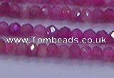 CRB1879 15.5 inches 2.5*4mm faceted rondelle red tourmaline beads