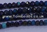 CRB1906 15.5 inches 2*3mm faceted rondelle chrysocolla & turquoise beads