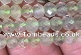 CRB1953 15.5 inches 3.5*5mm faceted rondelle prehnite gemstone beads
