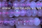 CRB1955 15.5 inches 3.5*5mm faceted rondelle strawberry quartz beads