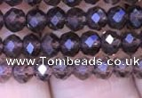 CRB1957 15.5 inches 3*4mm faceted rondelle smoky quartz beads