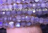 CRB1979 15.5 inches 2*3mm faceted rondelle labradorite beads